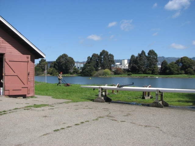 mowing_lawn_BPRC_boathouse